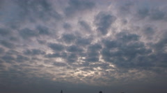 Big Blue sky with clouds, down to skyline, sun shining through, Baton Rouge, LA, Stock Footage