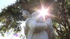 Buddhism. Illumination, peace, calm, hope.  Stock Footage