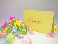 Massage Card; Thank You - stock photo
