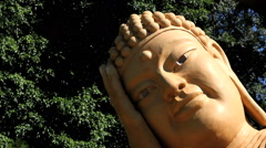 Buddhism temple - Traditional architecture and sculptures. - stock footage