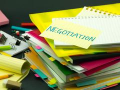 The Pile of Business Documents; Negotiation - stock photo