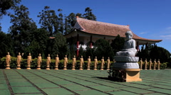 Buddhism temple - Traditional architecture and sculptures. Amida  - stock footage