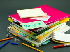 The Pile of Business Documents; Recycle - stock photo