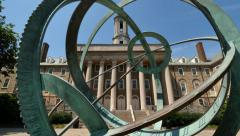 Tilt Up Establishing Shot of Penn State Old Main Stock Footage