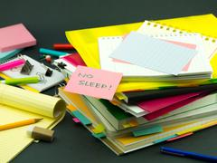 The Pile of Business Documents; No Sleep Stock Photos
