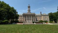 Tilt Up Old Main University Park Campus Establishing Shot - stock footage