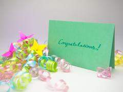 Stock Photo of Massage Card; Congratulations!