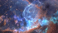 Stock Video Footage of fly through outer space nebula and stars