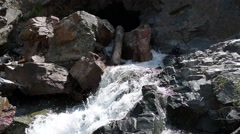 Clear mountain waterfall high in the San Juan mountains of Colorado. Stock Footage