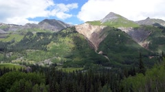 Huge wide angle view of the San Juan mountains in Colorado. Stock Footage