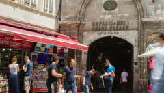 The Grand Bazaar Istanbul Time Lapse Stock Footage