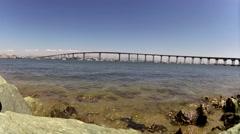 San Diego Bay and Coronado Bridge Time Lapse Stock Footage