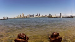 San Diego Bay and Downtown from Coronado Island Time Lapse Stock Footage