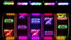 Money gambling machine at the casino Stock Footage
