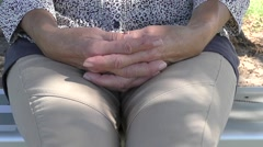 Nervous thumbs and hands close up Stock Footage