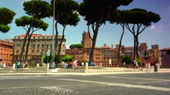 Stock Video Footage of ULTRA HD 4K real time shot,ancient forums on street of Rome