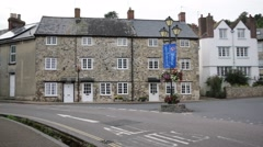 English houses built of stone: traditional fishers village, England, Europe Stock Footage