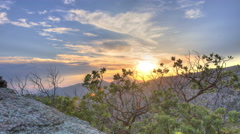 Cloudy Mountain Sunset 2 Stock Footage