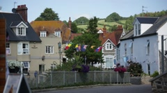 English fishing village on a sunny day, England, Europe Stock Footage