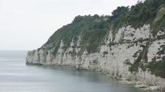 White cliffs: Coastline of South England, Europe Stock Footage