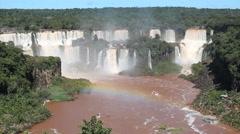 Brazilian waterfall. Cataratas do Iguaçu, Brazil. World Famous Iguazu Falls - stock footage