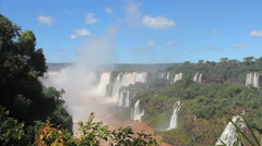 Brazilian waterfall. Cataratas do Iguaçu, Brazil. World Famous Iguazu Falls Stock Footage