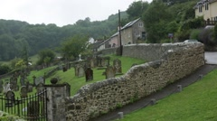 Village Cemetery in England, Branscombe, Europe Stock Footage