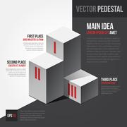 Stock Illustration of Vector template with isometric pedestal. EPS10.