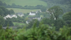 English Village on the hill, England, Europe Stock Footage