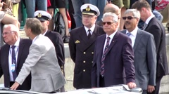 Sail 2015 Bremerhaven 021HD President Gauck and other politicians on a boat Stock Footage