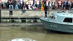 Sail 2015 Bremerhaven 022HD official boat with President Joachim Gauck Stock Footage