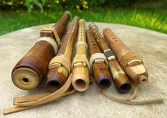 Native American Flutes - stock photo