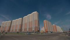 Flats in Moscow, Nekrasovka; New Distric Stock Footage