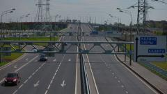 Highway in the Moscow region Stock Footage