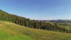 Woodt  Ukrainian Carpathians mountains and nature. Aerial shot panorama Stock Footage