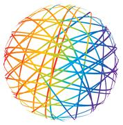 Abstract sphere from color lines Stock Photos