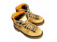 yellow boots - stock photo