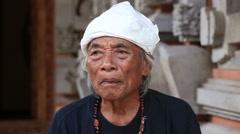 Portrait Ketut Liyer, traditional healer, Ubud, Indonesia Stock Footage
