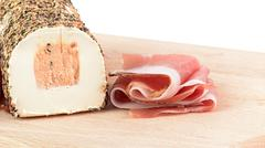 speck and pepper cheese - stock photo
