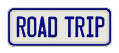 Stock Illustration of Metal sign with the inscription Road Trip