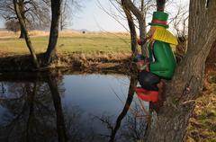 Vodyanoi - water goblin Stock Photos