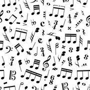 Many music signs and note on white background Stock Illustration