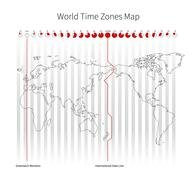 World Time Zones Map Piirros