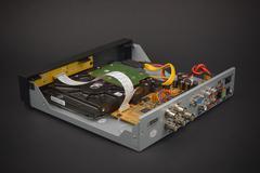 Opened Digital Video Recorder for video surveillance cameras Stock Photos