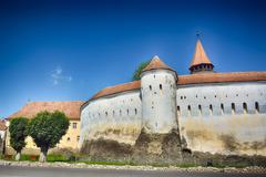 The Prejmer fortified church (Romanian: Biserica fortificat? din Prejmer; Ger Stock Photos