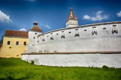 Harman, the Fortified Church, (in Brasov County), which was built in the firs Stock Photos