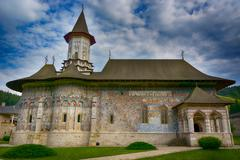 Stock Photo of Sucevita painted monastery in Romania. It is a UNESCO World Heritage site.