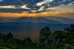 Ceahlau massif, Eastern Carpathians, Moldova, Romania Stock Photos