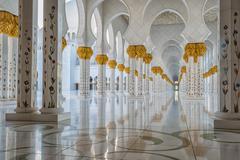 Sheikh Zayed Grand Mosque, Abu Dhabi. Stock Photos