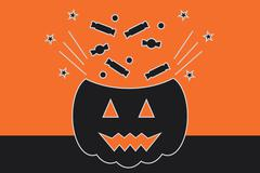 Stock Illustration of Halloween Vector Illustration, Trick or Treat